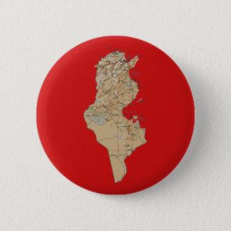 Badge Rond 5 Cm Bouton de carte de la Tunisie