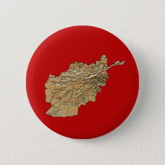 Badge Rond 5 Cm Bouton de carte de l'Afghanistan