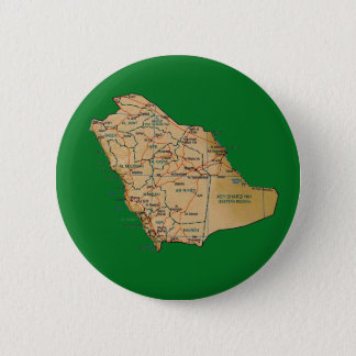 Badge Rond 5 Cm Bouton de carte de l'Arabie Saoudite