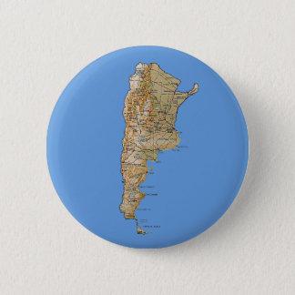 Badge Rond 5 Cm Bouton de carte de l'Argentine