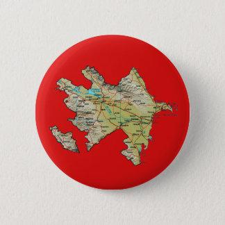 Badge Rond 5 Cm Bouton de carte de l'Azerbaïdjan