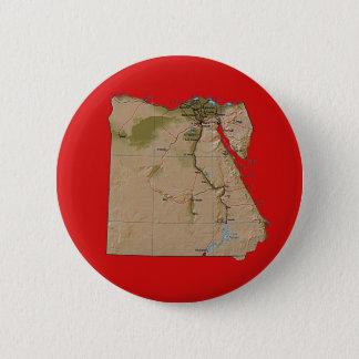 Badge Rond 5 Cm Bouton de carte de l'Egypte