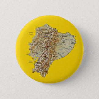 Badge Rond 5 Cm Bouton de carte de l'Equateur
