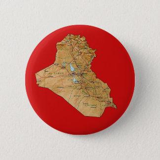 Badge Rond 5 Cm Bouton de carte de l'Irak