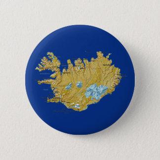 Badge Rond 5 Cm Bouton de carte de l'Islande