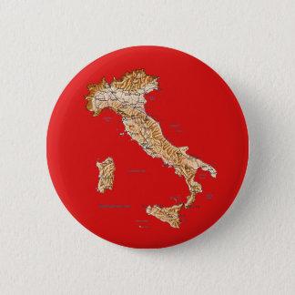 Badge Rond 5 Cm Bouton de carte de l'Italie
