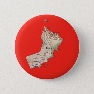 Badge Rond 5 Cm Bouton de carte de l'Oman