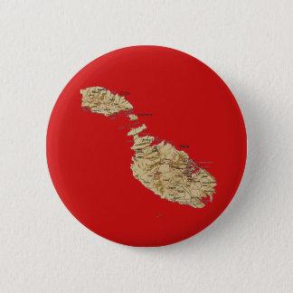 Badge Rond 5 Cm Bouton de carte de Malte
