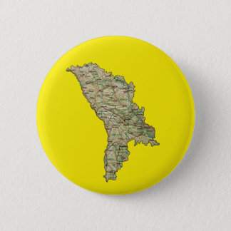 Badge Rond 5 Cm Bouton de carte de Moldau