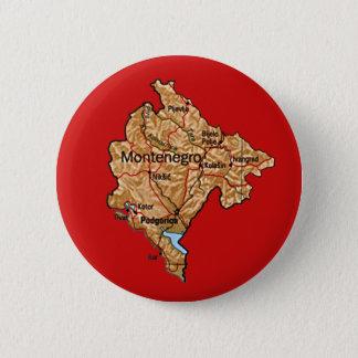 Badge Rond 5 Cm Bouton de carte de Monténégro