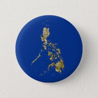 Badge Rond 5 Cm Bouton de carte de Philippines
