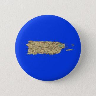 Badge Rond 5 Cm Bouton de carte de Porto Rico