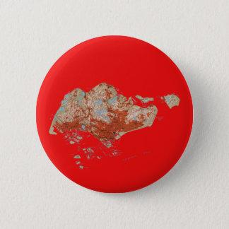 Badge Rond 5 Cm Bouton de carte de Singapour