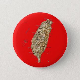 Badge Rond 5 Cm Bouton de carte de Taïwan