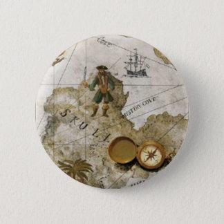 Badge Rond 5 Cm Bouton de carte de trésor