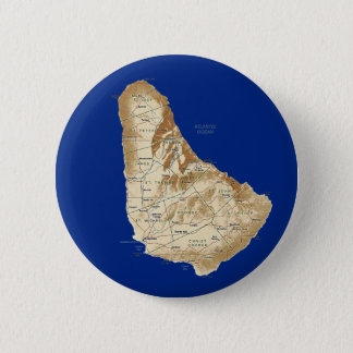Badge Rond 5 Cm Bouton de carte des Barbade