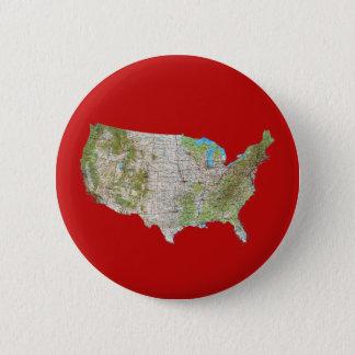 Badge Rond 5 Cm Bouton de carte des Etats-Unis