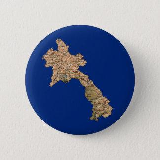 Badge Rond 5 Cm Bouton de carte des Laotiens