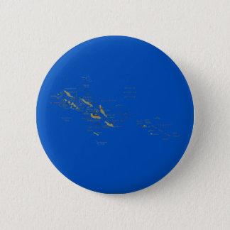 Badge Rond 5 Cm Bouton de carte d'îles Salomon