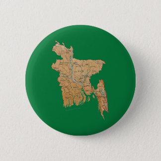 Badge Rond 5 Cm Bouton de carte du Bangladesh