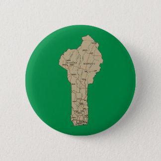 Badge Rond 5 Cm Bouton de carte du Bénin