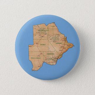 Badge Rond 5 Cm Bouton de carte du Botswana