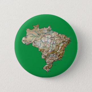 Badge Rond 5 Cm Bouton de carte du Brésil