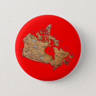 Badge Rond 5 Cm Bouton de carte du Canada
