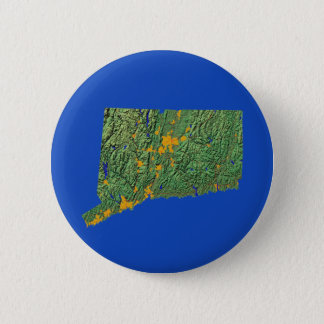 Badge Rond 5 Cm Bouton de carte du Connecticut