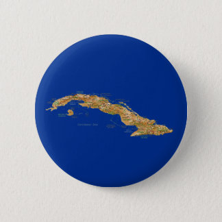 Badge Rond 5 Cm Bouton de carte du Cuba