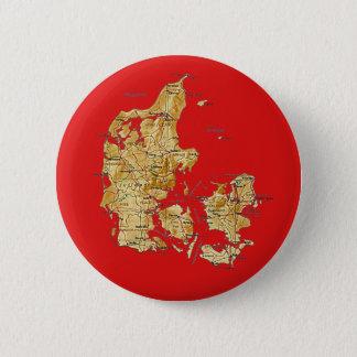 Badge Rond 5 Cm Bouton de carte du Danemark