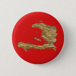 Badge Rond 5 Cm Bouton de carte du Haïti