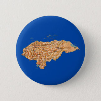 Badge Rond 5 Cm Bouton de carte du Honduras