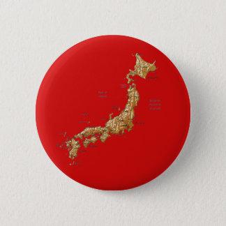 Badge Rond 5 Cm Bouton de carte du Japon