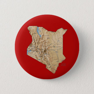Badge Rond 5 Cm Bouton de carte du Kenya