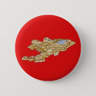 Badge Rond 5 Cm Bouton de carte du Kirghizistan