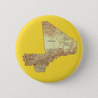 Badge Rond 5 Cm Bouton de carte du Mali