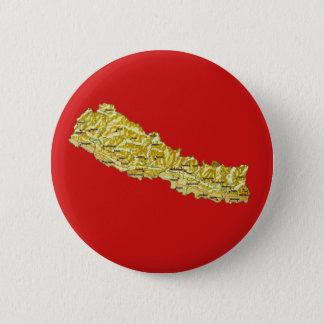 Badge Rond 5 Cm Bouton de carte du Népal