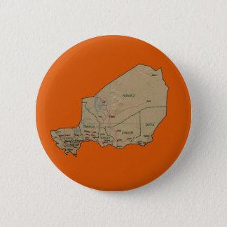 Badge Rond 5 Cm Bouton de carte du Niger