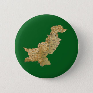 Badge Rond 5 Cm Bouton de carte du Pakistan