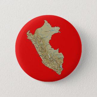 Badge Rond 5 Cm Bouton de carte du Pérou