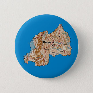 Badge Rond 5 Cm Bouton de carte du Rwanda