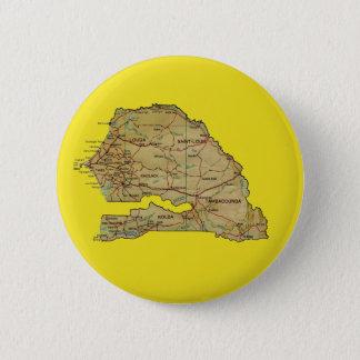 Badge Rond 5 Cm Bouton de carte du Sénégal