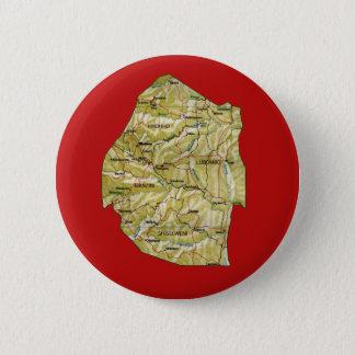 Badge Rond 5 Cm Bouton de carte du Souaziland