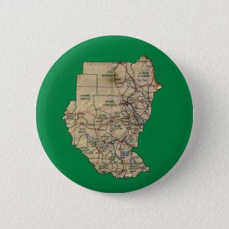 Badge Rond 5 Cm Bouton de carte du Soudan