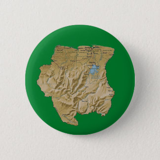 Badge Rond 5 Cm Bouton de carte du Surinam