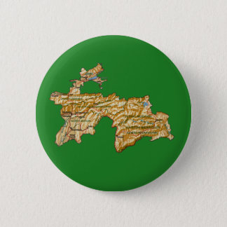 Badge Rond 5 Cm Bouton de carte du Tadjikistan
