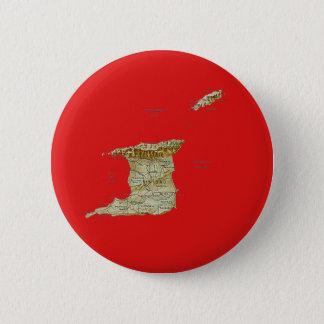 Badge Rond 5 Cm Bouton de carte du Trinidad-et-Tobago