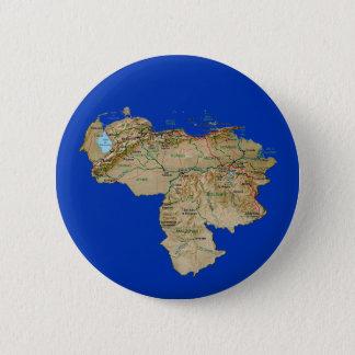 Badge Rond 5 Cm Bouton de carte du Venezuela