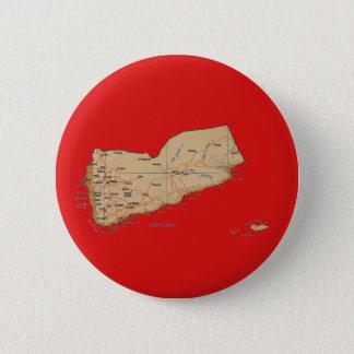 Badge Rond 5 Cm Bouton de carte du Yémen